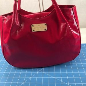 Kate Spade Red Patent Lather Satchel.